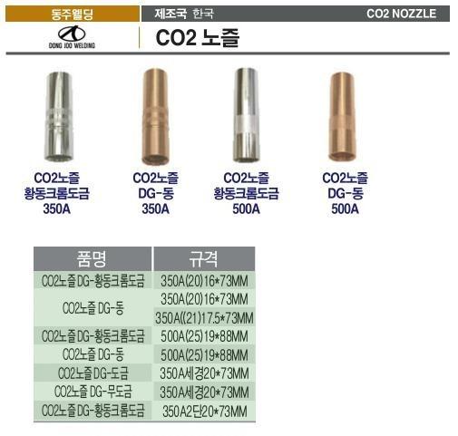 CO2노즐 350A(20)16*73MM (DG-황동크롬도금) 동주 제조업체의 용접부품/CO2용접부품 브랜드별 가격비교 및 판매정보 소개